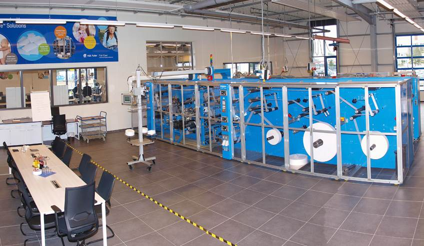 Hygiene coater in H.B. Fuller's facility in Luneburg, Germany.