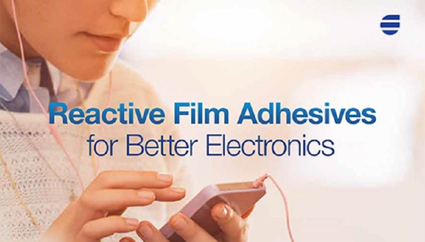 Woman on a cell phone representing Flexel reactive film adhesives for better electronics from H.B. Fuller.