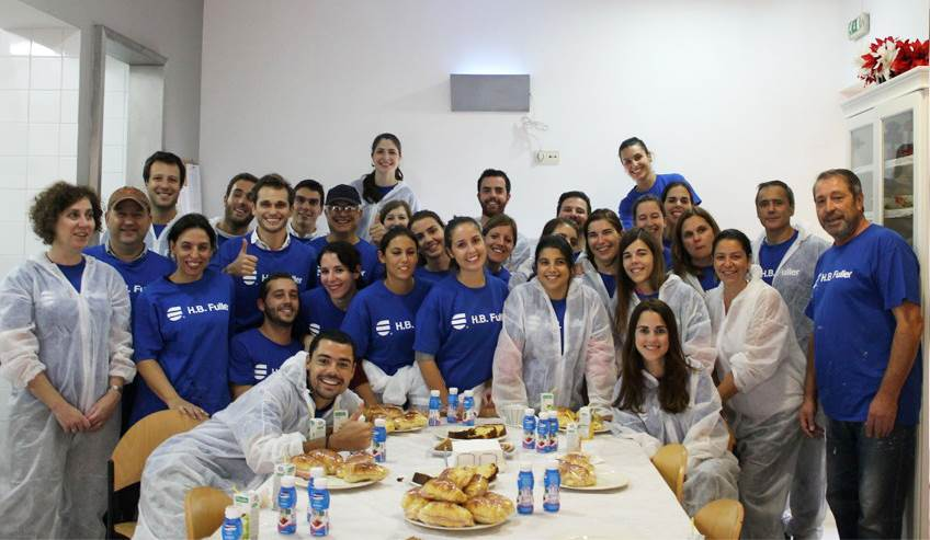 Group of employees form Mindelo.