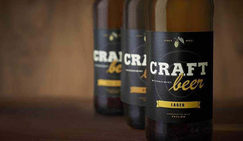 Craft Brewery bottled beer