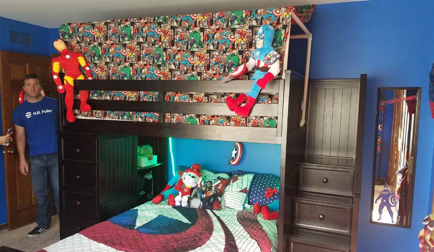 Child's room with bunk beds.