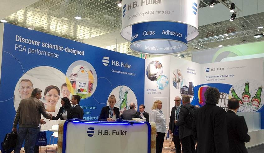 Busy booth from Labelexpo 2017