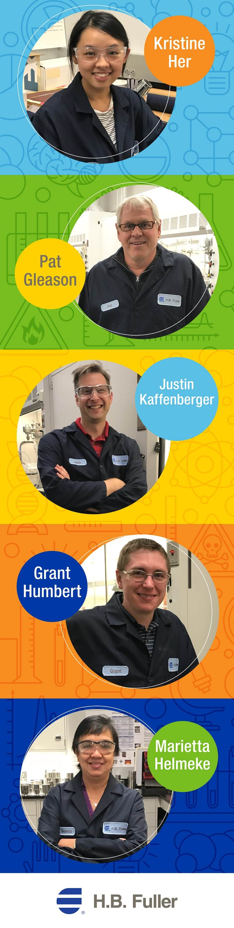 H.B. Fuller is excited to spotlight some extraordinary chemists for National Chemistry Week. Learn more about the difference each one of them is making.
