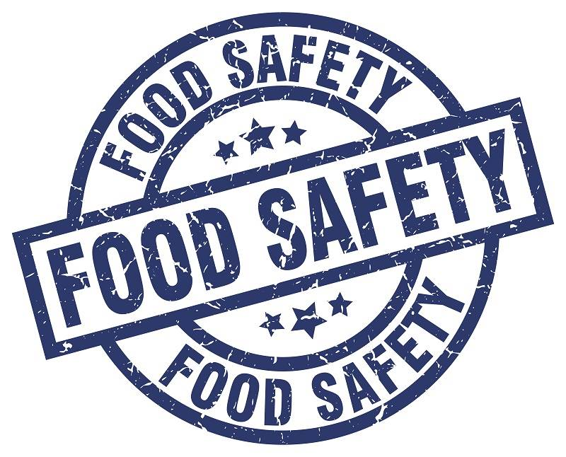 Blue logo for food safety.