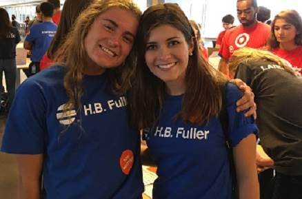 H.B. Fuller interns at a volunteer event.