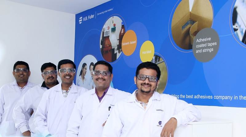 Packaging team for H.B. Fuller in India.