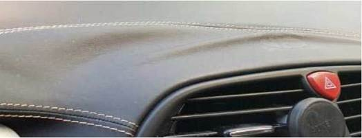 Interior of a car bonded with adhesives.