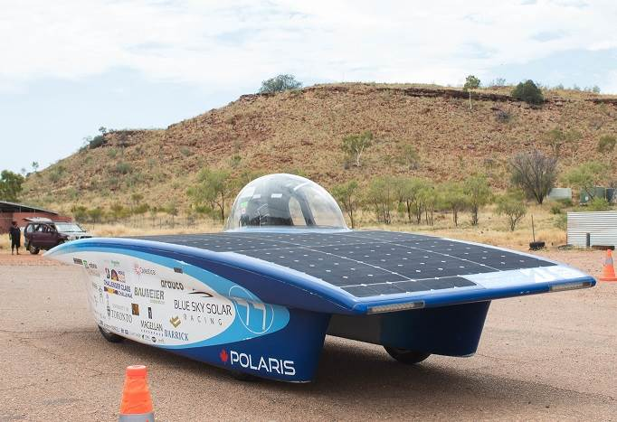 Blue Sky racing solar car.