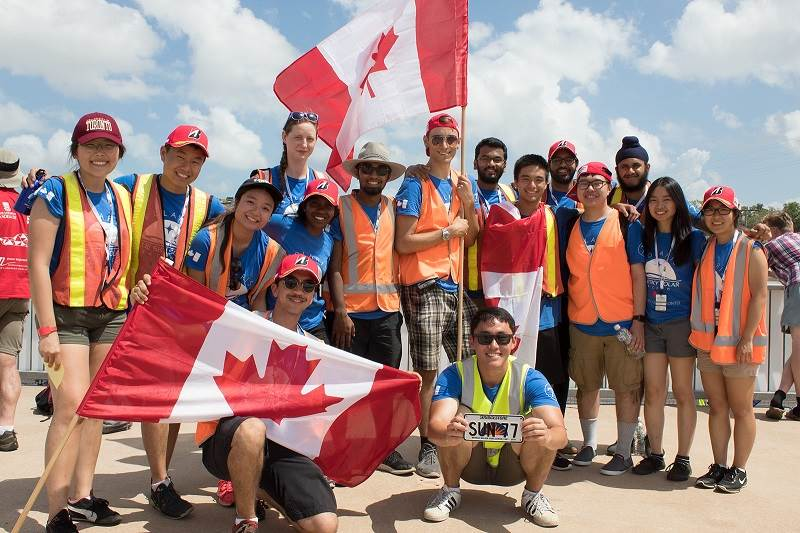 Blue Sky Canada team at the solar race.