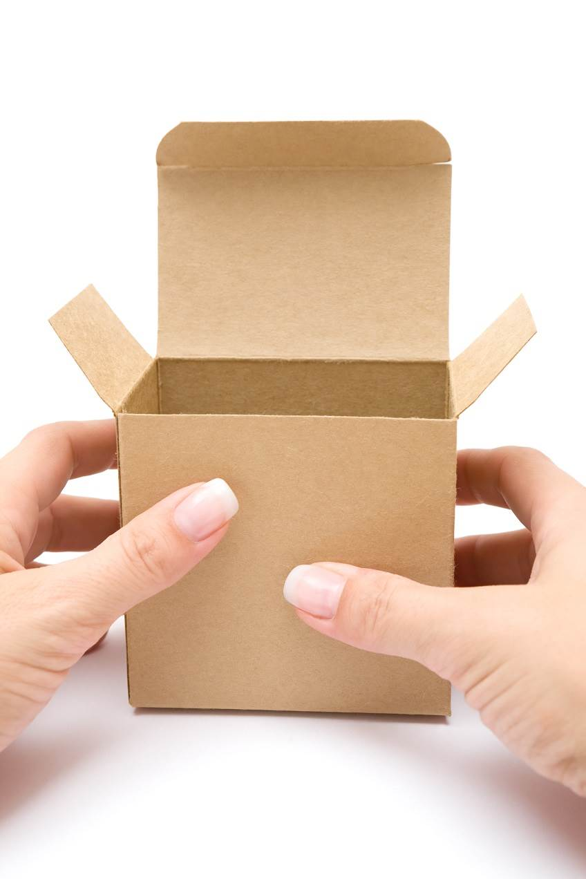 Small cardboard box representing fit for purpose packaging.