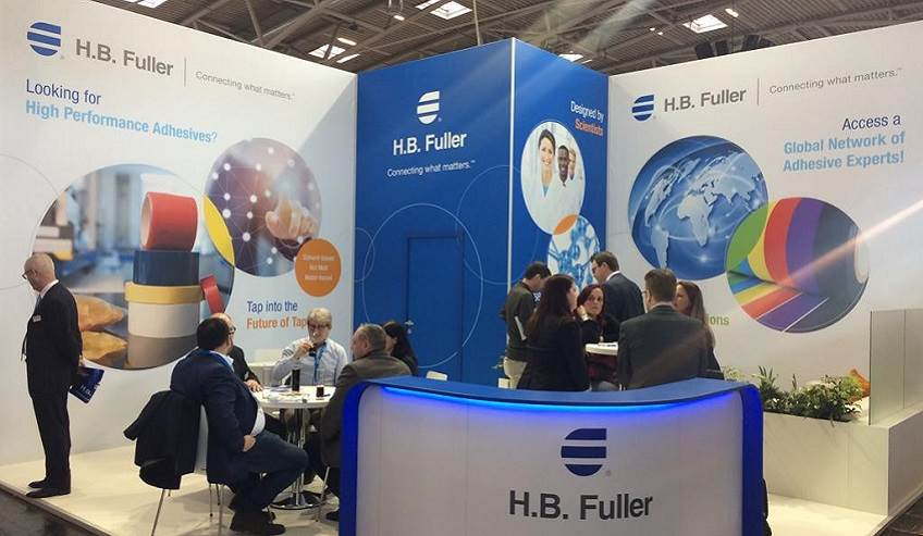 The H.B. Fuller booth at ICE.
