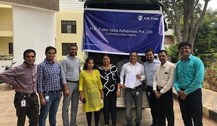 H.B. Fuller India CSR team brought relief and aid to affected regions from monsoons.