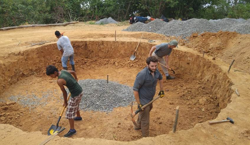 Engineers without borders (EWB) volunteering work.