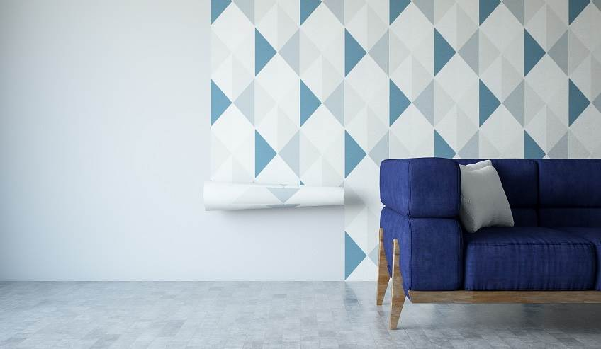 Removable wallpaper is a new design trend made possible by microsphere technology adhesives.