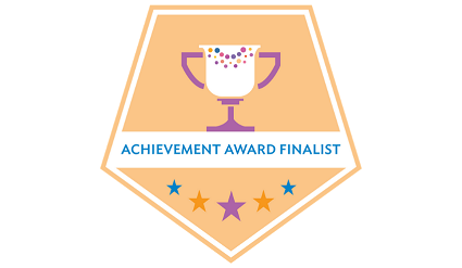 IDEA badge for achievement award finalist.