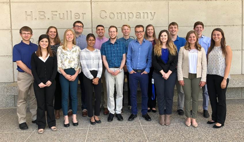 Summer intern group at H.B. Fuller.