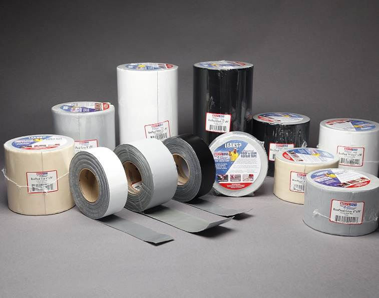 Eternabond repair tapes for commercial roofing.