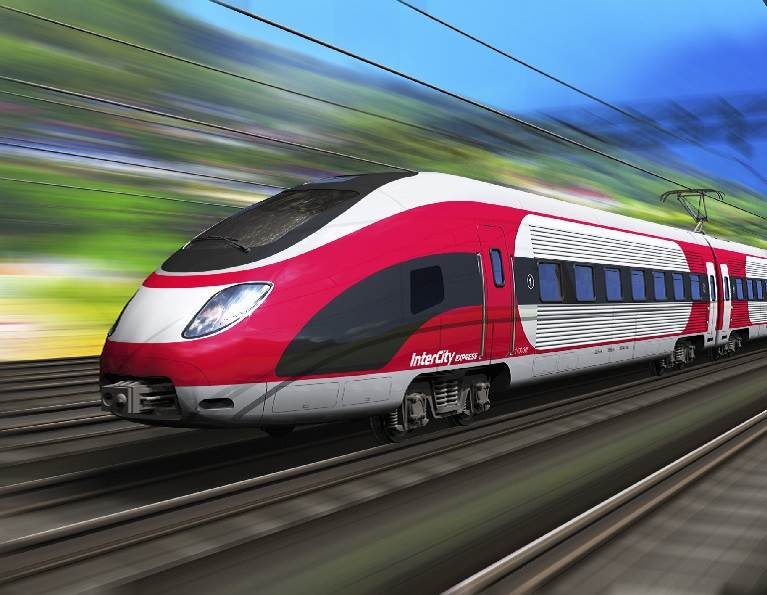 High speed train moving.