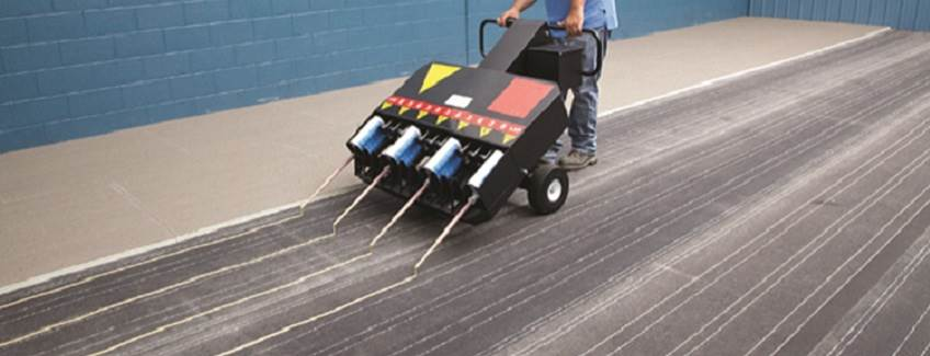 Commercial roofing adhesive equipment from H.B. Fuller.