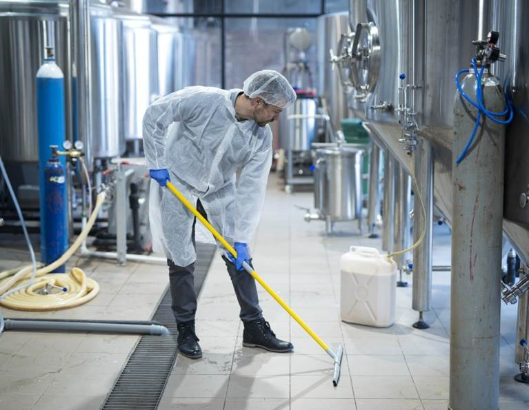 Commercial Disinfectant in a Factory