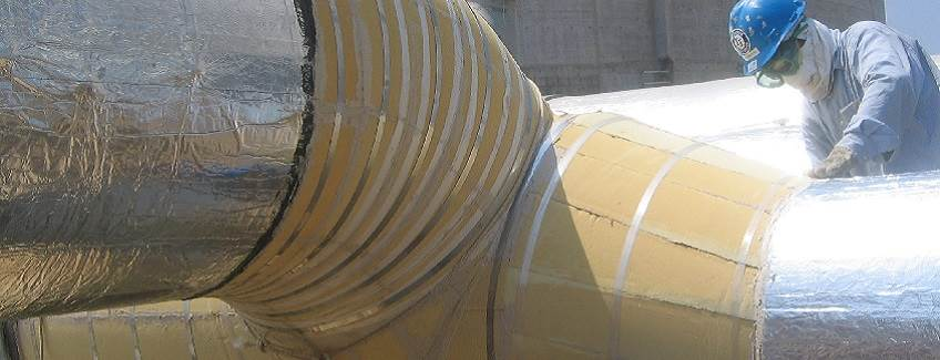 Large industrial insulation application.