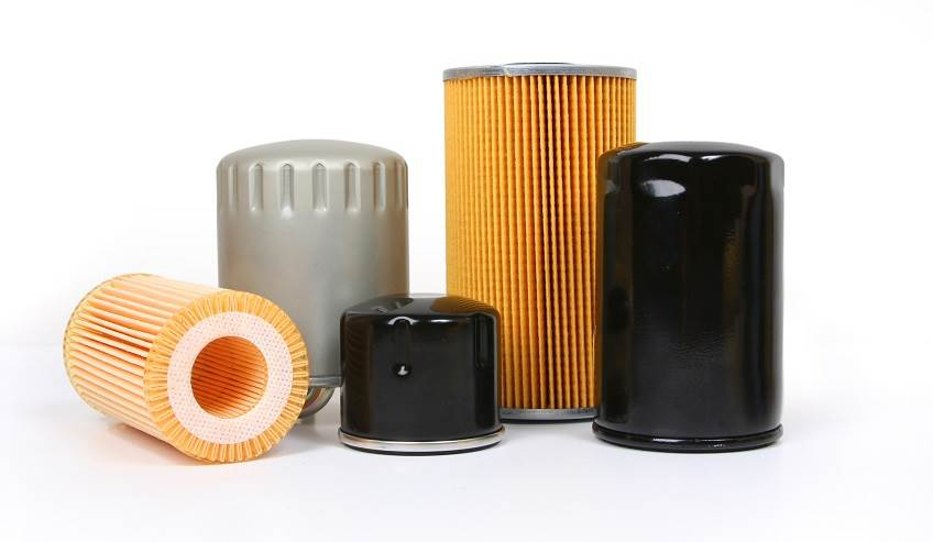 Oil filters manufactured with adhesives.