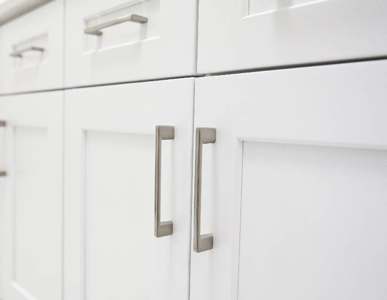 Closeup of cabinets composed of industrial adhesives from H.B. Fuller.
