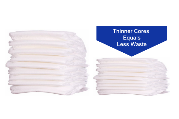 Thinner diapers equal less waste