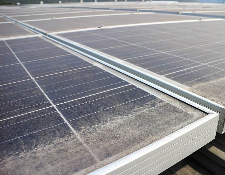 Edge sealing on a solar panel with adhesives from H.B. Fuller.