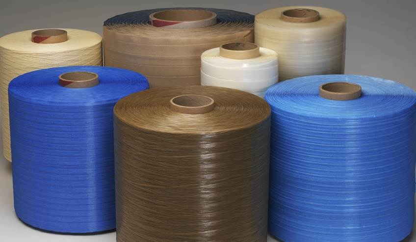 Adhesive coated tapes and closing solutions.