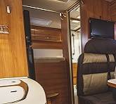 Wood panel lamination in an RV.
